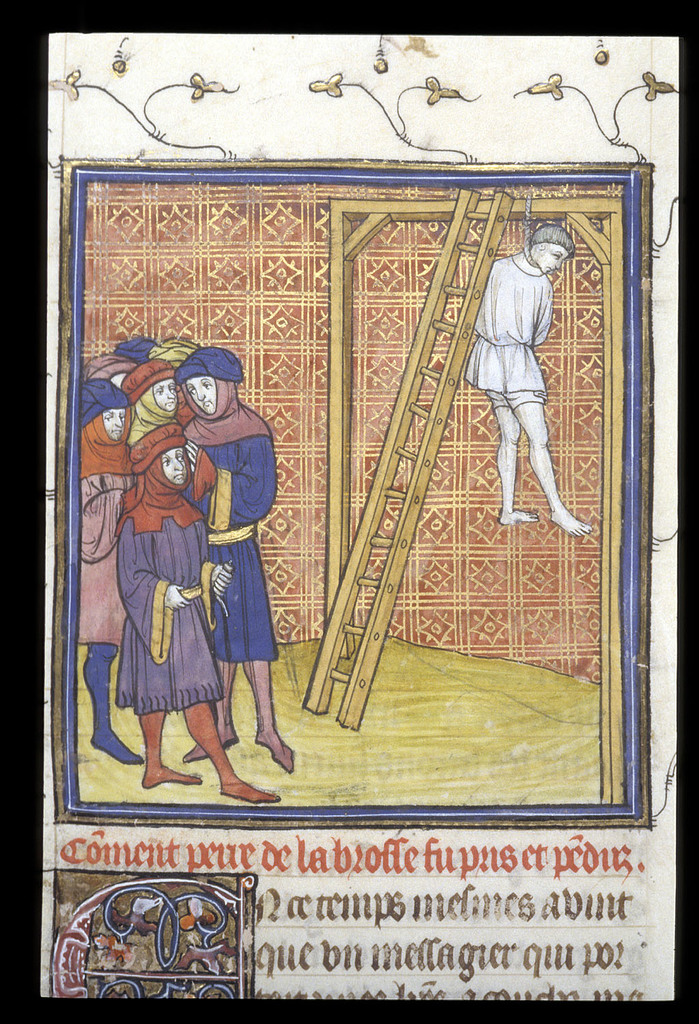 Execution of Pierre de la Brosse from BL Royal 20 C VII, f. 15