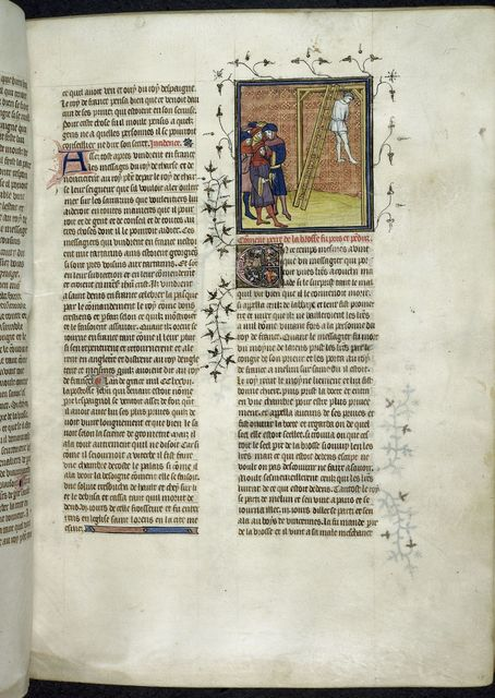 Execution of Pierre de la Brosse from BL Royal 20 C VII, f. 15