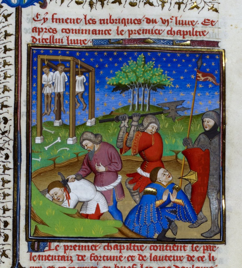 Executions from BL Royal 18 D VII, f. 129