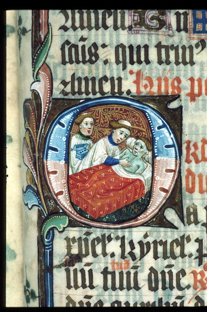 Extreme Unction from BL Lansdowne 451, f. 234