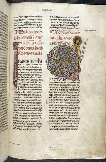 Ezekiel from BL Harley 2803, f. 229