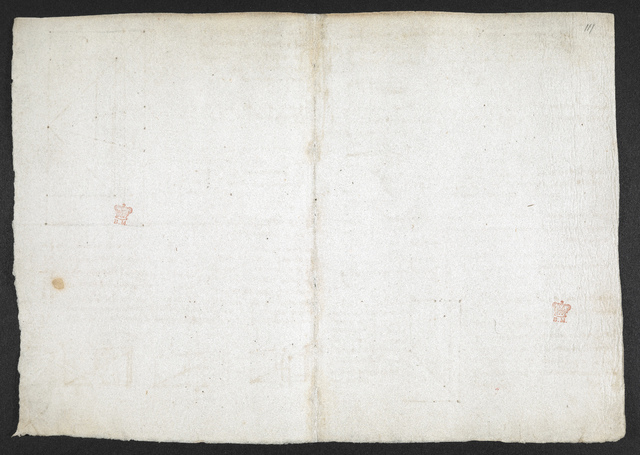 f. 108v, displayed as an open bifolium with f. 111: blank page from BL Arundel 263