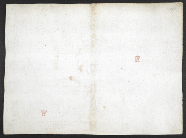 f. 275, displayed as an open bifolium with f. 274v: blank page from BL Arundel 263