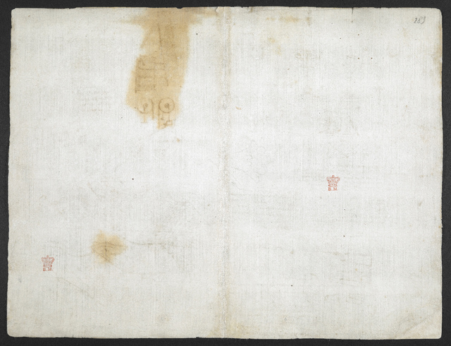 f. 282v, displayed as an open bifolium with f. 283: blank page from BL Arundel 263