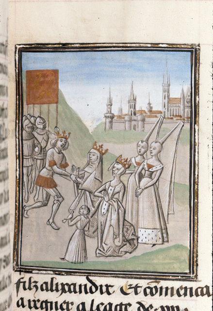 Family of Darius from BL Royal 15 D I, f. 109