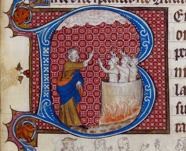 Fiery Furnace from BL Royal 2 B VII, f. 294