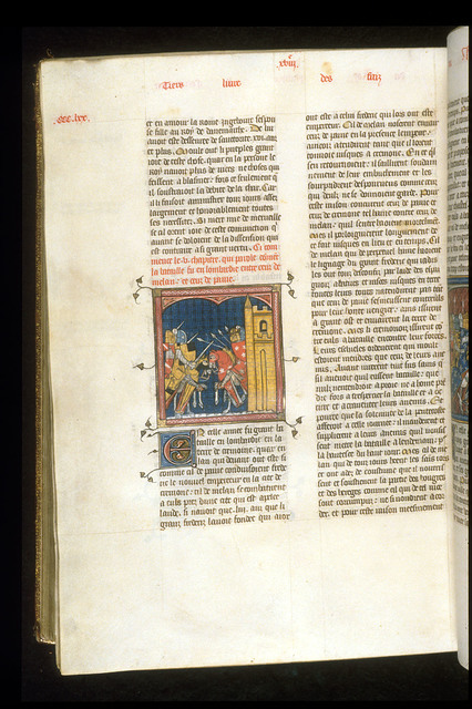 Fighting in Lombardy from BL Royal 16 G VI, f. 372v
