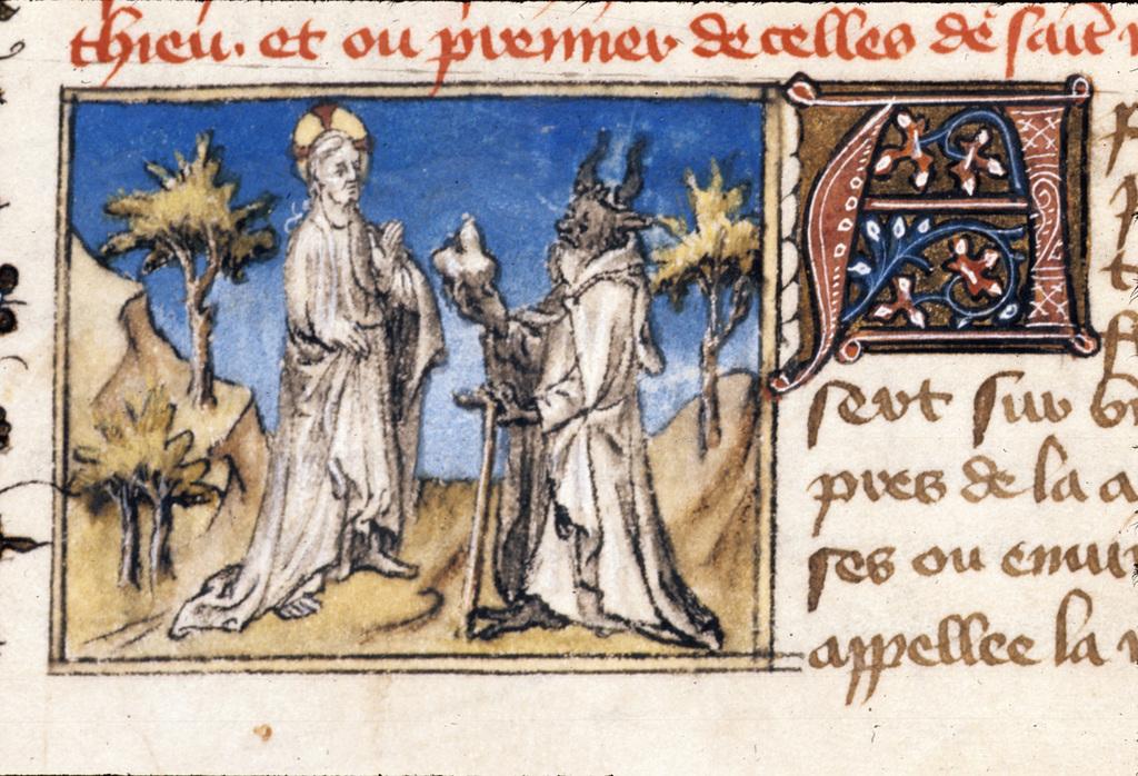 First Temptation from BL Royal 20 B IV, f. 47v