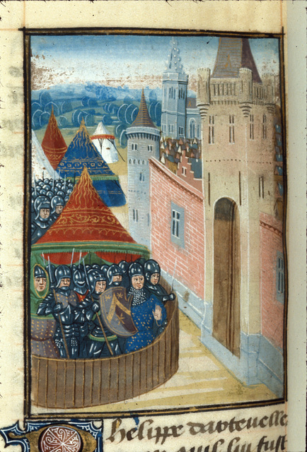 Flemish army from BL Royal 14 D IV, f. 237v