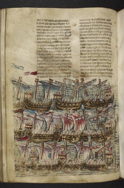 Flotilla of ships from BL Royal 20 D I, f. 66v