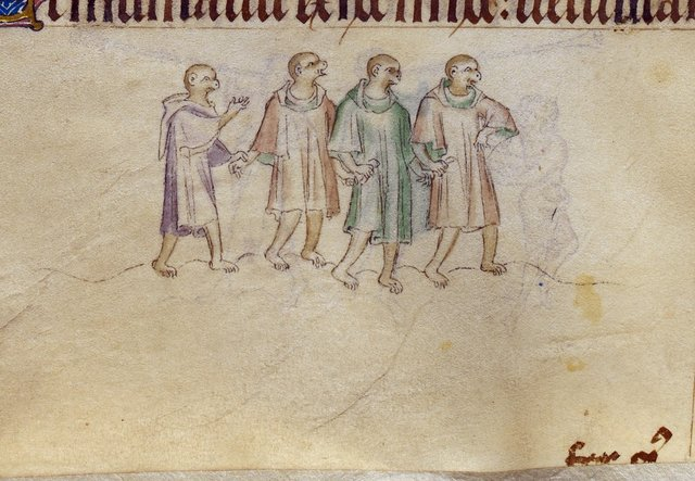 Four apes from BL Royal 2 B VII, f. 179v