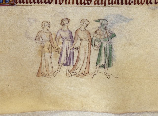 Four people from BL Royal 2 B VII, f. 181v