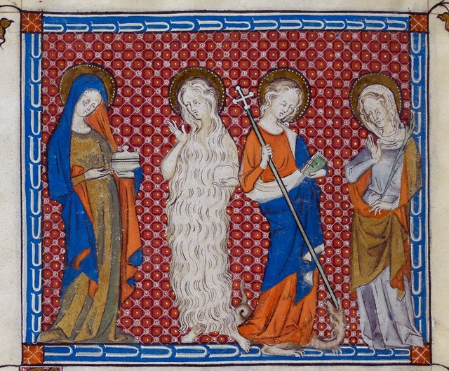 Four women from BL Royal 2 B VII, f. 308v