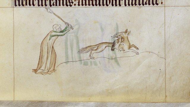 Fox from BL Royal 2 B VII, f. 158