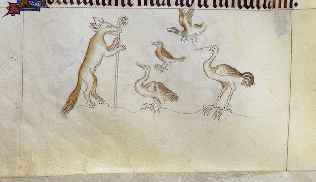 Fox preaching from BL Royal 2 B VII, f. 157v