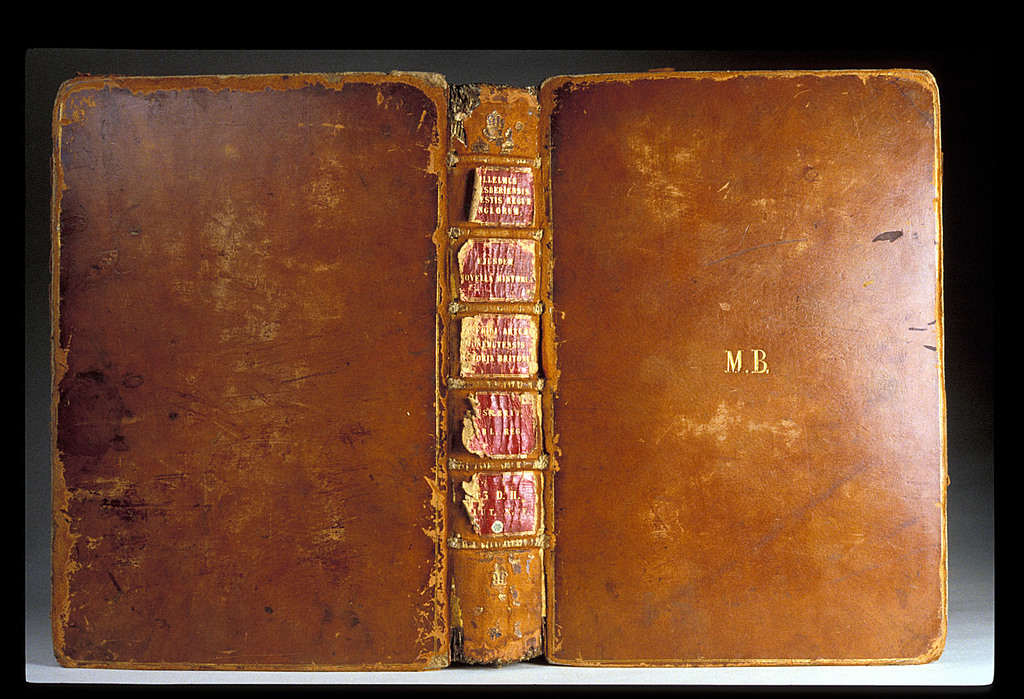 Front and back cover of binding from BL Royal 13 D II