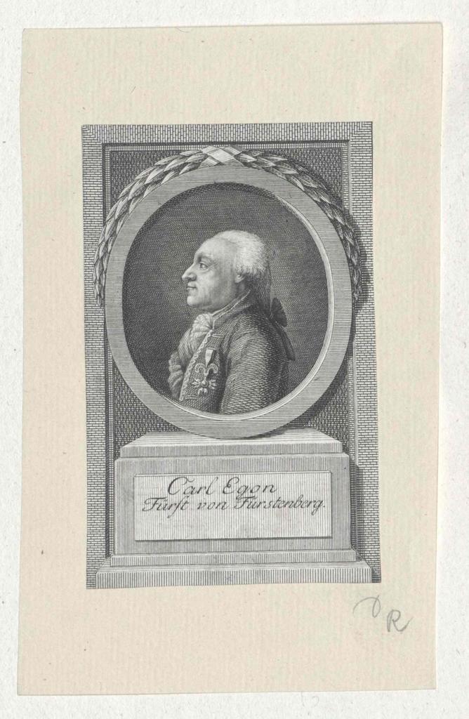 Fürstenberg, Karl Egon I. Prinz zu