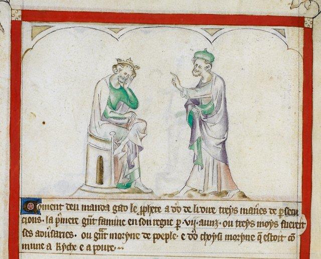 Gad and David from BL Royal 2 B VII, f. 62v