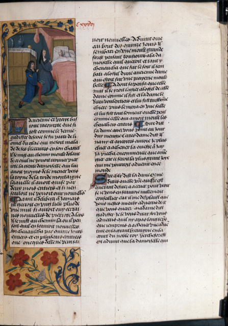 Gadiffer and Pierrote from BL Royal 19 E II, f. 105