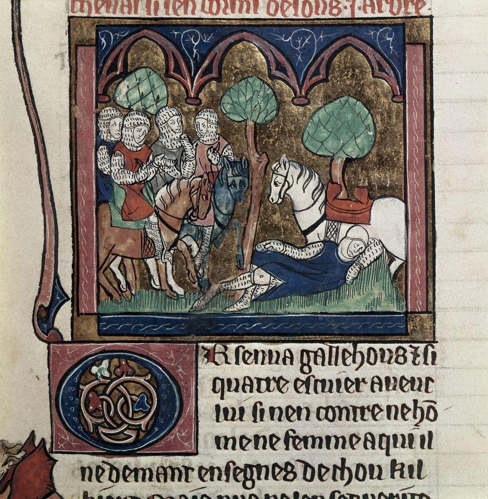 Galahad from BL Royal 20 D IV, f. 53