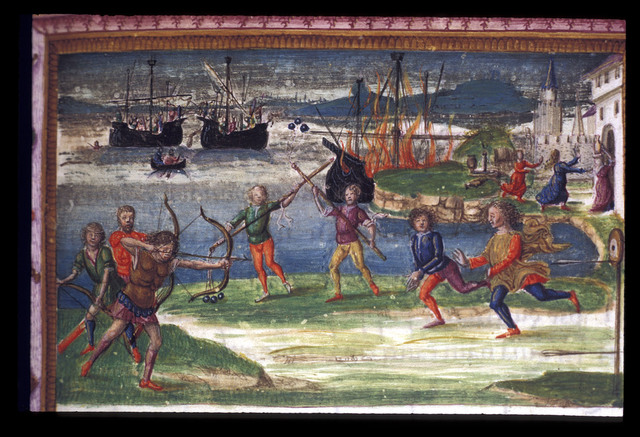 Games, and the Trojan fleet from BL King's 24, f. 115
