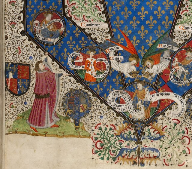 Genealogical table from BL Royal 15 E VI, f. 3
