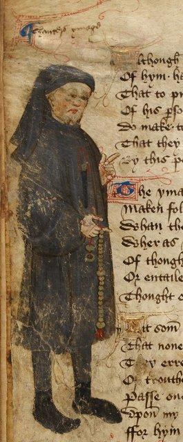 Geoffrey Chaucer from BL Royal 17 D VI, f. 93v