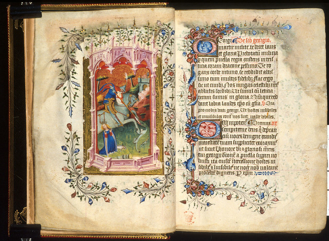 George and the dragon from BL Royal 2 A XVIII, ff. 5v-6