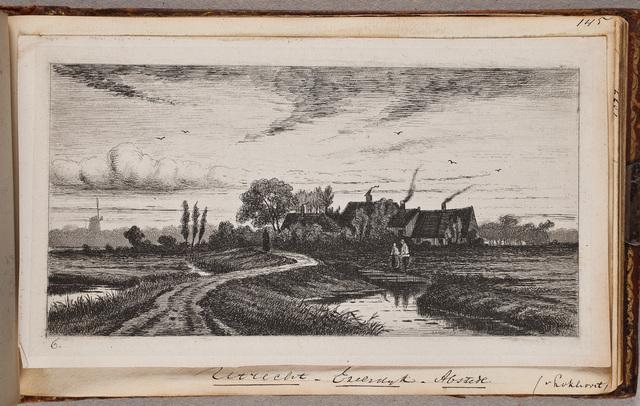 Gezicht op de Ezelsdijk in Abstede, bij Utrecht / door [Jan van Lokhorst] (1837-na 1874)