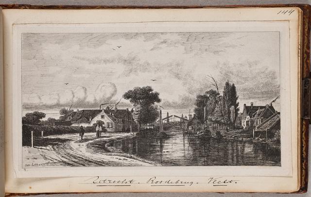 Gezicht op de Rode Brug aan de Vecht bij Utrecht / door Jan v[an] Lokhorst (1837-na 1874)
