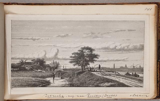Gezicht op de weg van Utrecht naar Zuilen / door Jan v[an] Lokhorst (1837-na 1874)