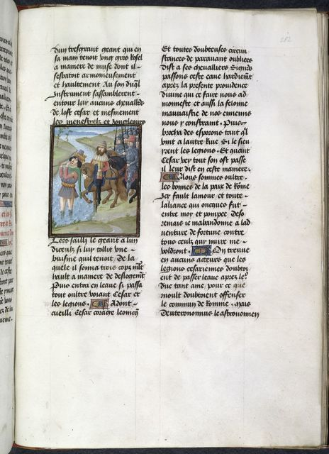 Giant leading Caesar from BL Royal 16 G VIII, f. 282
