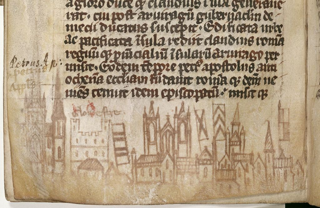 Gloucester from BL Royal 13 A III, f. 41v