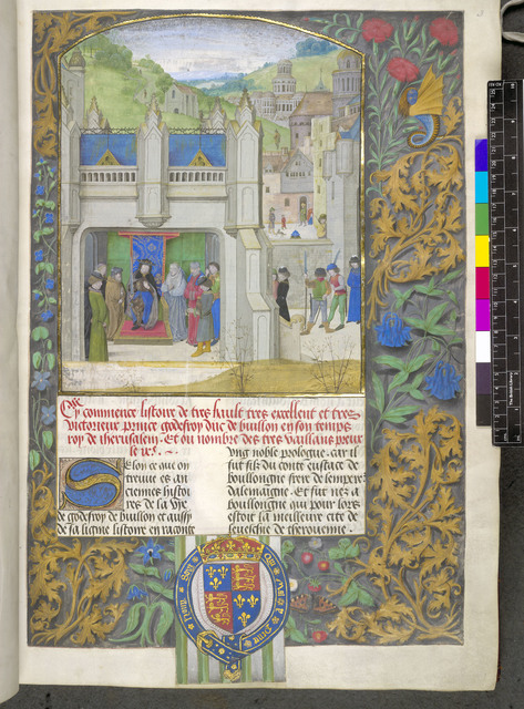 Godefrey de Bouillon from BL Royal 17 F V, f. 3
