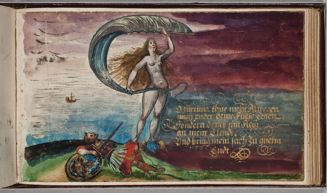 Gouache / door N.N. in het album amicorum van Joannes Guilielmus Paris