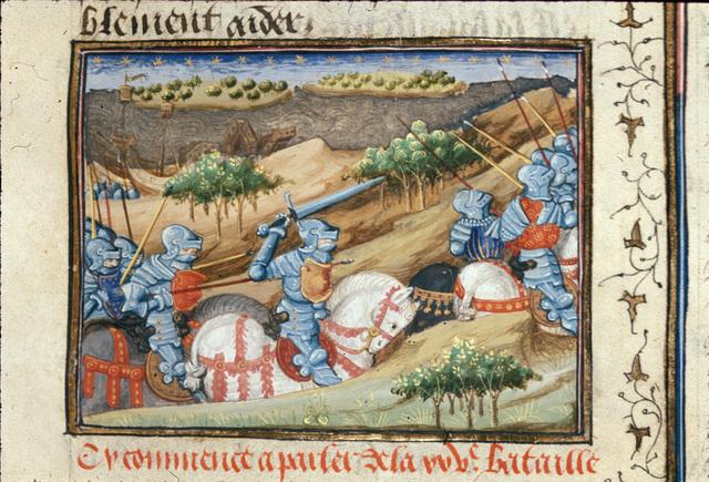 Greek army from BL Royal 16 F IX, f. 64