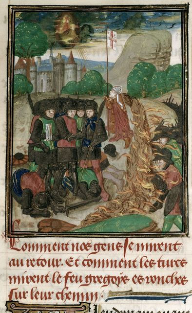 Greek fire from BL Royal 15 E I, f. 266