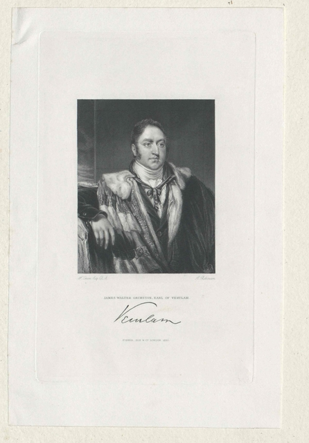 Grimston, 1. Earl of Verulam, James Walter