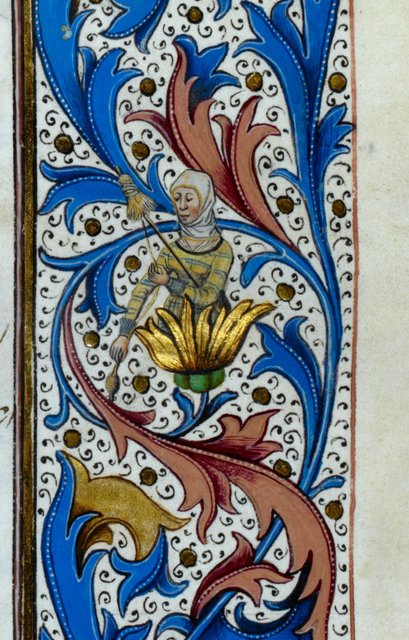 Grotesque from BL Royal 15 E IV, f. 246