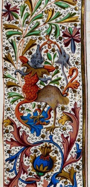Grotesque from BL Royal 15 E IV, f. 295v