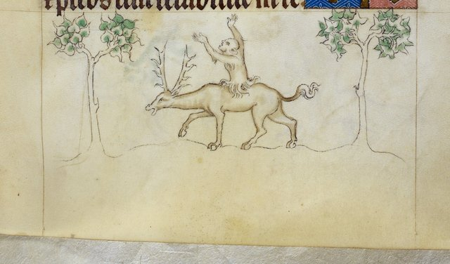 Grotesque from BL Royal 2 B VII, f. 195