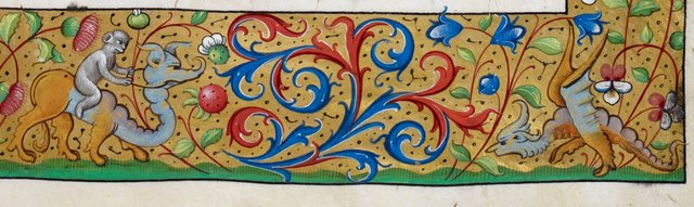 Grotesque hybrids from BL Royal 19 C VI, f. 17