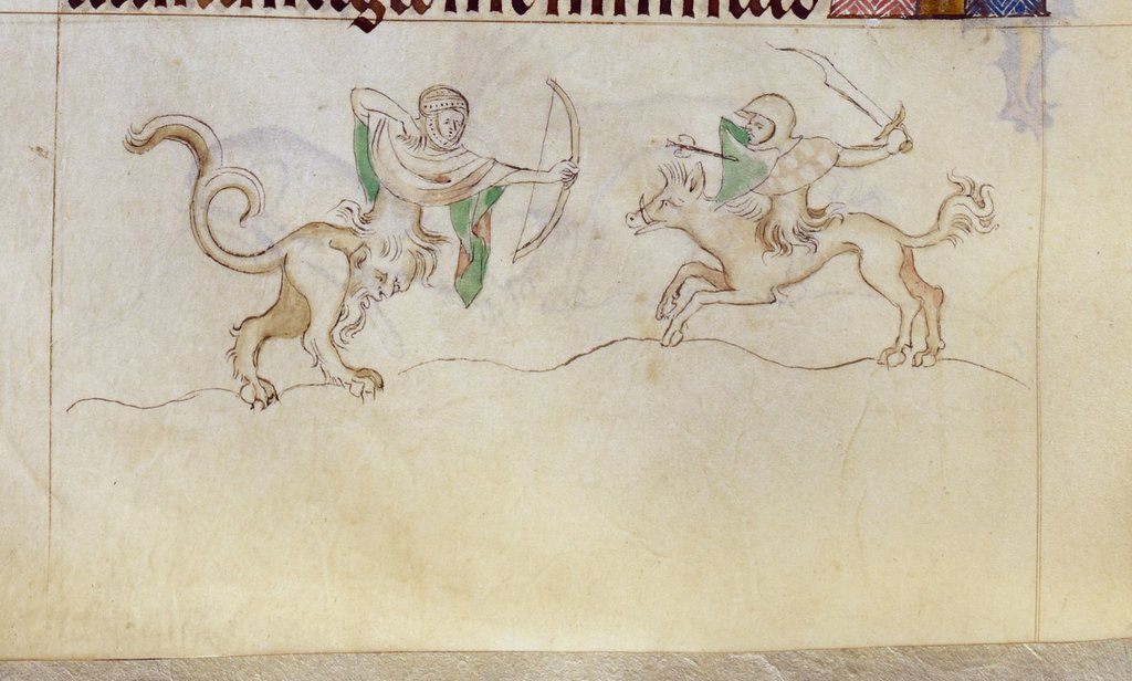Grotesques from BL Royal 2 B VII, f. 137v