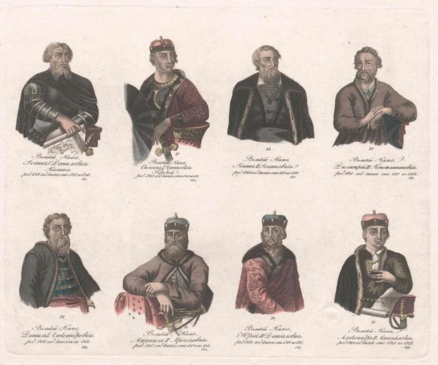 Gruppenbild Acht russische Herrscher