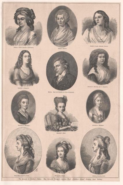 Gruppenbild Frauen in Friedrich Schillers Leben