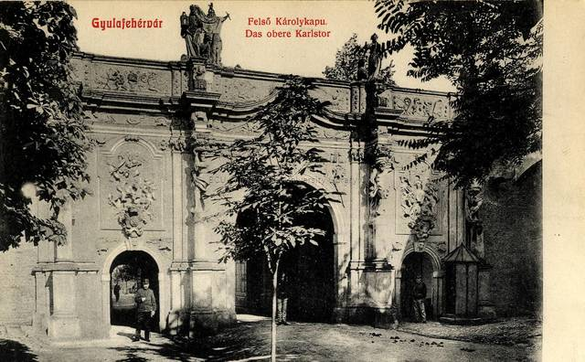 Gyulafehérvár [material iconografic] : Felső Károlykapu = Das obere Karlstor
