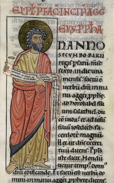 Haggai from BL Harley 2803, f. 281