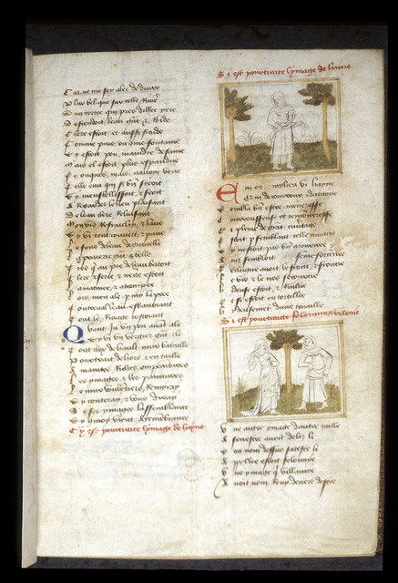 Haine and Vilenie from BL Eg 1069, f. 2
