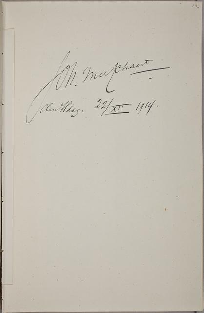 Handtekening / van Johan[nes Martinus] Messchaert (1857-1922), zanger en muziekdocent, in het autografenalbum van Rudolf Hugo Driessen (1873-1946) en Caroline Driessen-Kleyn (1883-1938)