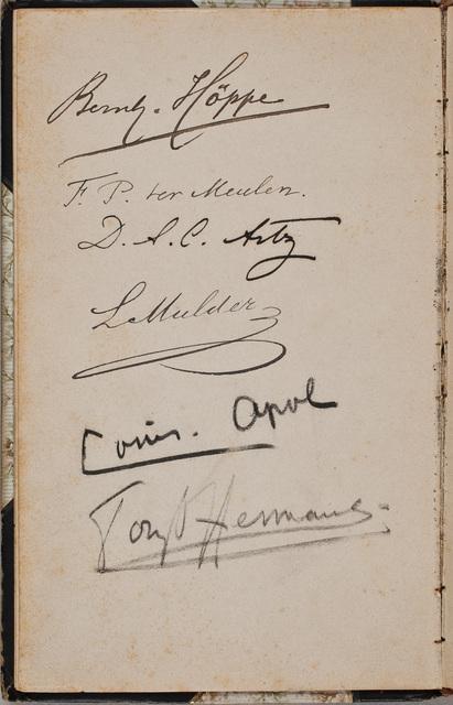 Handtekening / van Lodewijk Mulder (1822-1907), in het album amicorum van Hendrik Willem Mesdag (1831-1915), schilder